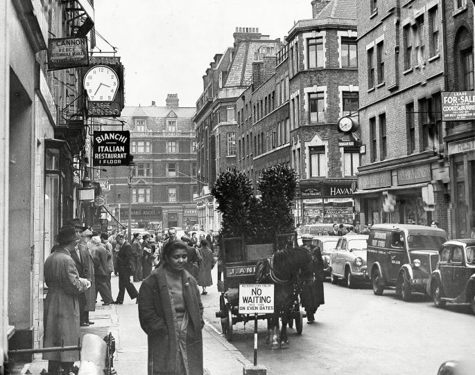 Mandatory Credit: Photo by ANL/REX/Shutterstock (884463a) Frith Street, Soho, London, Britain Frith Street, Soho, London, Britain - 1955